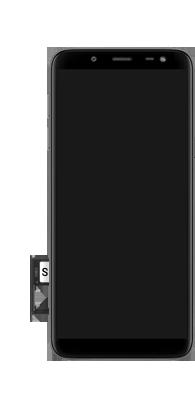 Samsung galaxy-j6-sm-j600fn-ds - Instellingen aanpassen - SIM-Kaart plaatsen - Stap 9