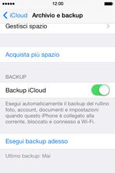 Apple iPhone 4S iOS 7 - Applicazioni - Configurazione del servizio Apple iCloud - Fase 14