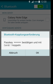 Samsung Galaxy Note Edge - Bluetooth - Geräte koppeln - 9 / 11