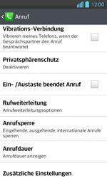 LG Optimus L7 II - Anrufe - Rufumleitungen setzen und löschen - 1 / 1