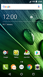 Acer Liquid Zest 4G - SMS - Manual configuration - Step 1