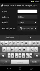 Sony Xperia V - Internet und Datenroaming - Verwenden des Internets - Schritt 11