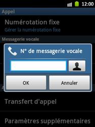 Samsung S5300 Galaxy Pocket - Messagerie vocale - Configuration manuelle - Étape 6