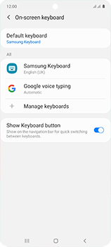 Samsung Galaxy A51 - Getting started - How to add a keyboard language - Step 7