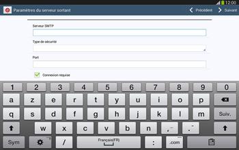 Samsung Galaxy Tab 3 10-1 LTE - E-mail - configuration manuelle - Étape 12