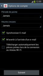 Samsung I9300 Galaxy S III - E-mail - Configuration manuelle (outlook) - Étape 7