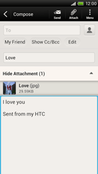 HTC S728e One X Plus - Email - Sending an email message - Step 14