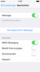 Apple iPhone 5 iOS 7 - MMS - manuelle Konfiguration - Schritt 12