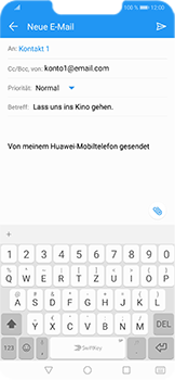 Huawei Honor Play - E-Mail - E-Mail versenden - 9 / 18