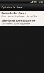 HTC Desire X - Réseau - Sélection manuelle du réseau - Étape 7