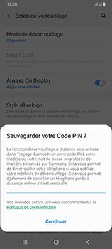 Samsung Galaxy A70 - Sécurité - activéz le code PIN de l'appareil - Étape 12