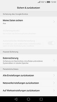 Huawei P9 Plus - Fehlerbehebung - Handy zurücksetzen - Schritt 8