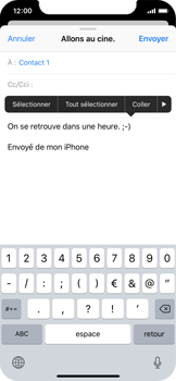 Apple iPhone X - E-mail - envoyer un e-mail - Étape 8