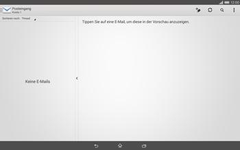 Sony Xperia Tablet Z2 LTE - E-Mail - Konto einrichten - Schritt 4