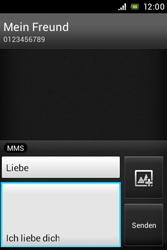 Sony Xperia E - MMS - Erstellen und senden - Schritt 15
