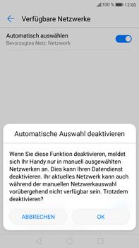 Huawei Mate 9 - Netzwerk - Manuelle Netzwerkwahl - Schritt 7