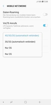 Samsung Galaxy S8 Plus - Netzwerk - Netzwerkeinstellungen ändern - 7 / 8
