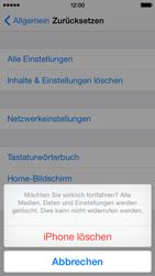 Apple iPhone 5s iOS 8 - Gerät - Zurücksetzen auf die Werkseinstellungen - Schritt 8