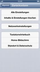 Apple iPhone 5 - Gerät - Zurücksetzen auf die Werkseinstellungen - Schritt 5