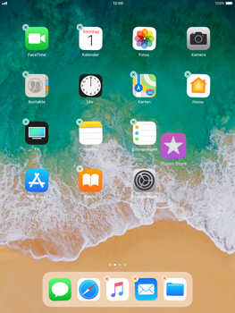 Apple iPad Air - iOS 11 - Mehrere App-Symbole gleichzeitig verschieben - 3 / 5