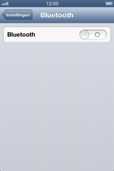 Apple iPhone 4 (iOS 6) - bluetooth - aanzetten - stap 4