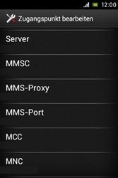 Sony Xperia Miro - MMS - Manuelle Konfiguration - Schritt 11