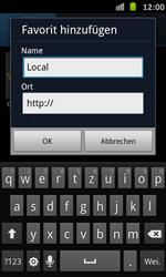 Samsung Galaxy S Advance - Internet und Datenroaming - Verwenden des Internets - Schritt 9