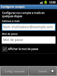 Samsung S5360 Galaxy Y - E-mail - Configuration manuelle - Étape 5