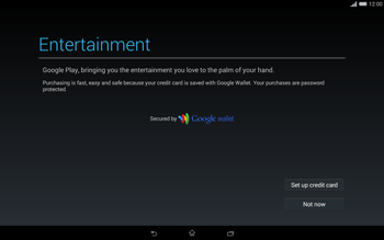 Sony Xperia Tablet Z2 LTE - Applications - Setting up the application store - Step 22