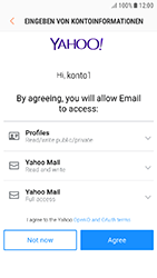 Samsung Galaxy J3 (2017) - E-Mail - 032b. Email wizard - Yahoo - Schritt 9