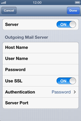 Apple iPhone 4 S - E-mail - Manual configuration IMAP without SMTP verification - Step 18