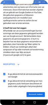 Huawei P Smart Plus - apps - account instellen - stap 14