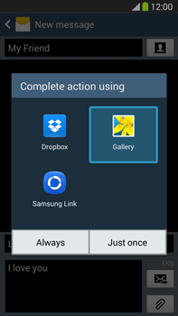 Samsung N9005 Galaxy Note III LTE - MMS - Sending pictures - Step 15