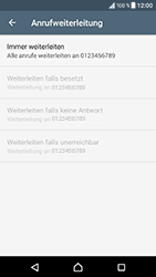 Sony Xperia XZ - Android Nougat - Anrufe - Rufumleitungen setzen und löschen - Schritt 9