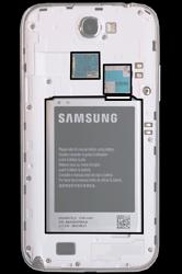 Samsung N7100 Galaxy Note 2 - SIM-Karte - Einlegen - Schritt 5