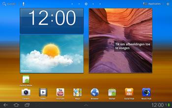 Samsung P7500 Galaxy Tab 10-1 - SMS - handmatig instellen - Stap 1