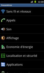 Samsung Galaxy S Advance - Réseau - Sélection manuelle du réseau - Étape 4