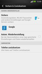 HTC One - Gerät - Zurücksetzen auf die Werkseinstellungen - Schritt 5