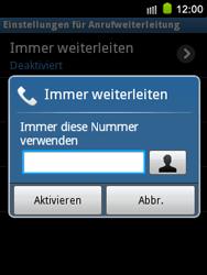 Samsung S5570 Galaxy Mini - Anrufe - Rufumleitungen setzen und löschen - Schritt 7