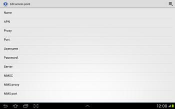 Samsung Galaxy Tab 2 10.1 - Internet and data roaming - Manual configuration - Step 12