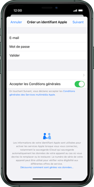 Apple iPhone XS Max - iOS 13 - Applications - Créer un compte - Étape 11