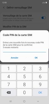 Samsung Galaxy Note 10 - Sécuriser votre mobile - Personnaliser le code PIN de votre carte SIM - Étape 11
