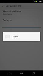 Sony Xperia Z1 - Rete - Selezione manuale della rete - Fase 7