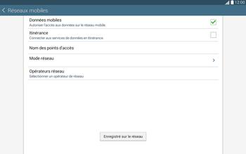 Samsung T535 Galaxy Tab 4 10.1 - Réseau - Sélection manuelle du réseau - Étape 12