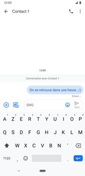 Google Pixel 3a - Contact, Appels, SMS/MMS - Envoyer un SMS - Étape 9