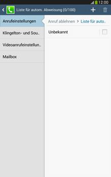 Samsung Galaxy Tab 3 8-0 LTE - Anrufe - Anrufe blockieren - 1 / 1