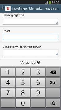 Samsung N9005 Galaxy Note III LTE - E-mail - Account instellen (POP3 met SMTP-verificatie) - Stap 10