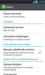 LG P700 Optimus L7 - Voicemail - handmatig instellen - Stap 6