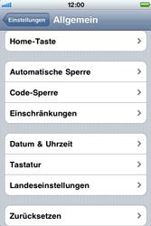 Apple iPhone 3G - Fehlerbehebung - Handy zurücksetzen - Schritt 6