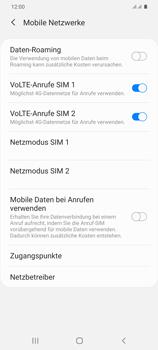 Samsung Galaxy S20 Plus 5G - Netzwerk - Manuelle Netzwerkwahl - Schritt 6